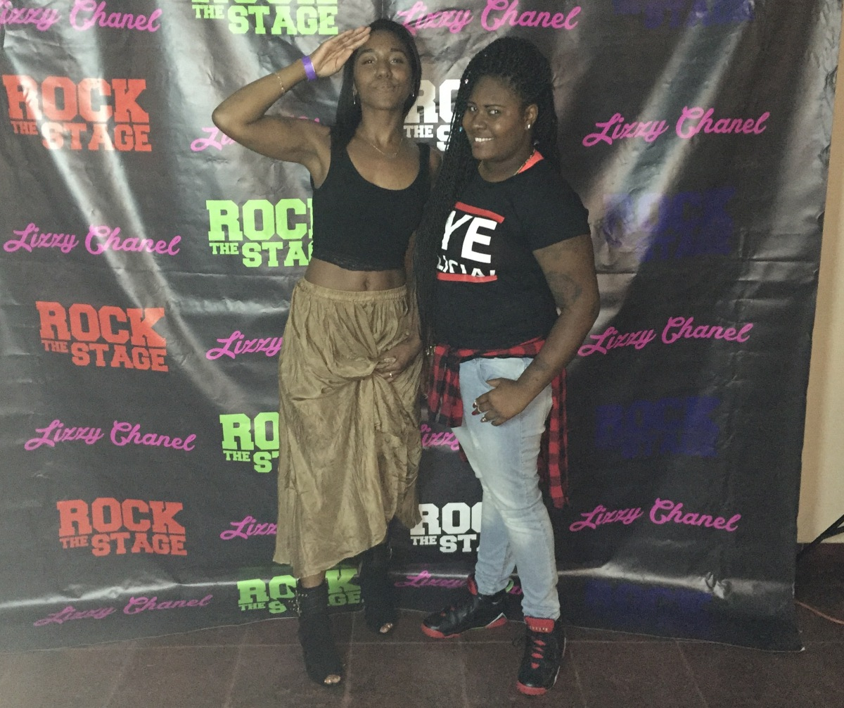 myself & @thereallizzychanel founder of the ROCK THE STAGE concerts.