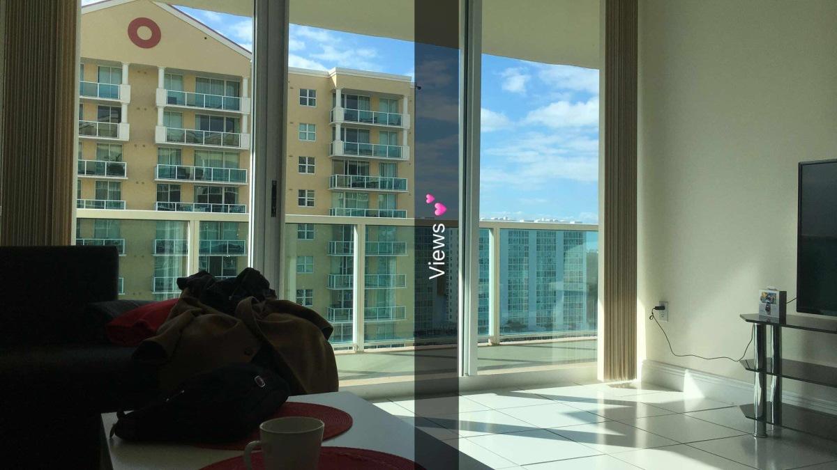 View from Sunny Isles Beach, Florida (Air BNB)