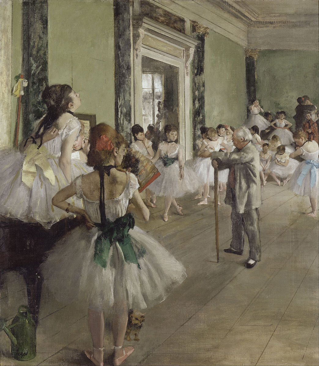 The Ballet Class by Degas